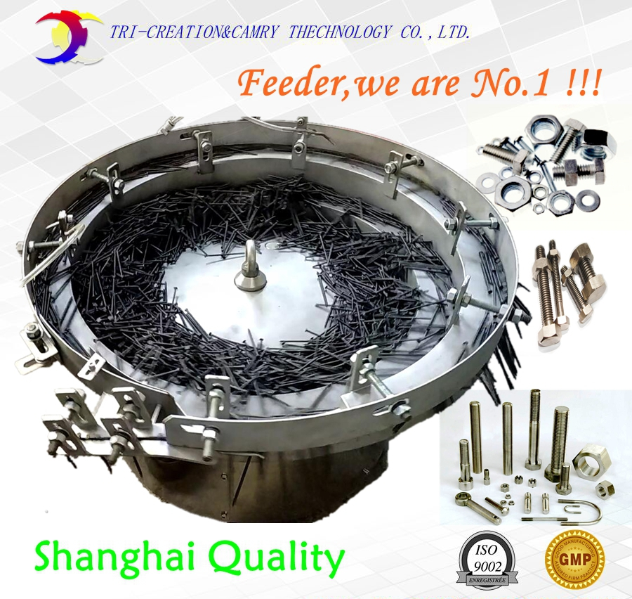 nail bowl feeder/sorter,SUS304 automatic hardware vibratory feeder,650mm customizable brand new smt yamaha feeder ft 8 2mm feeder used in pick and place machine