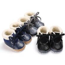 Emmaaby/ботинки для мальчиков г. Повседневная обувь для маленьких мальчиков зимние ботинки для малышей обувь на мягкой подошве Нескользящие кроссовки, от 0 до 18 месяцев