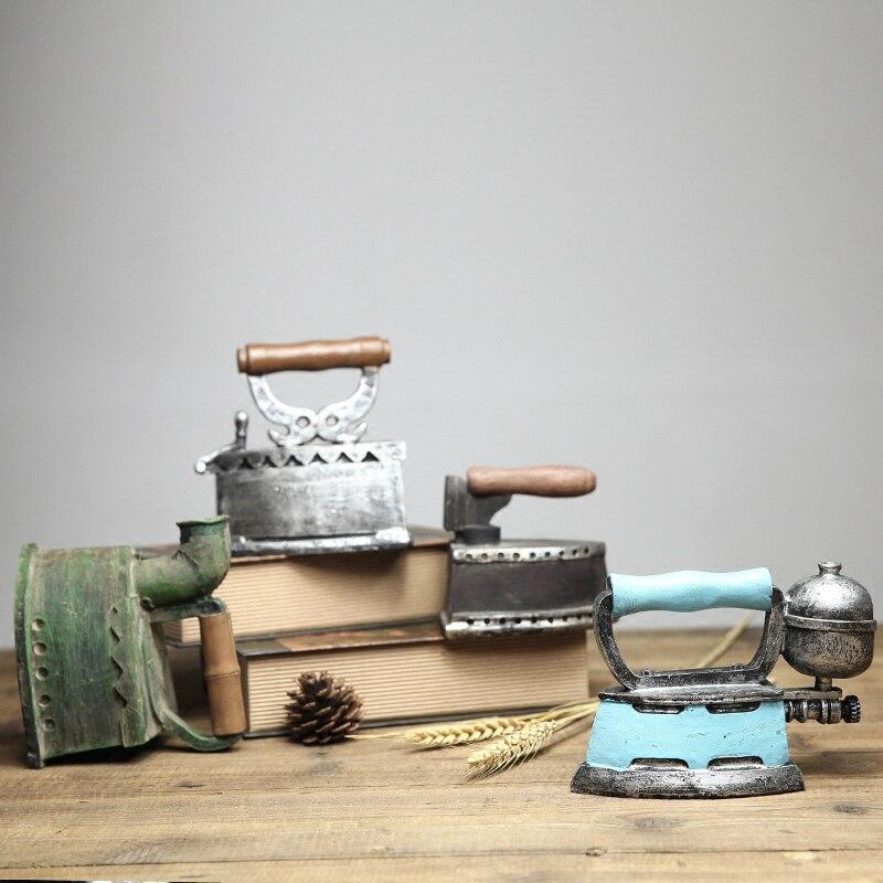 Américain Vintage résine machine à coudre modèle industriel vent rétro ameublement articles vin armoire décorative arts et artisanat