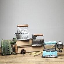 Máquina de coser de resina Vintage americana, artículos de mobiliario Retro de viento Industrial, gabinete de vino, artes y artesanías decorativas