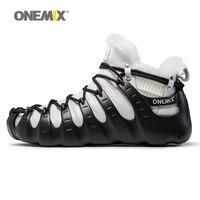 Onemix Winter Boots Men Multifunction Split And Combine Outdoor Trekking Shoes Walking For Man No Glue