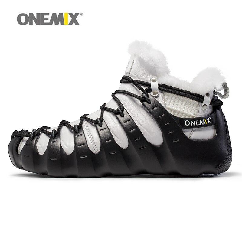 Onemix winter boots men multifunction split and combine outdoor trekking shoes walking for man no glue autumn wool warm new hot onemix winter men s trekking