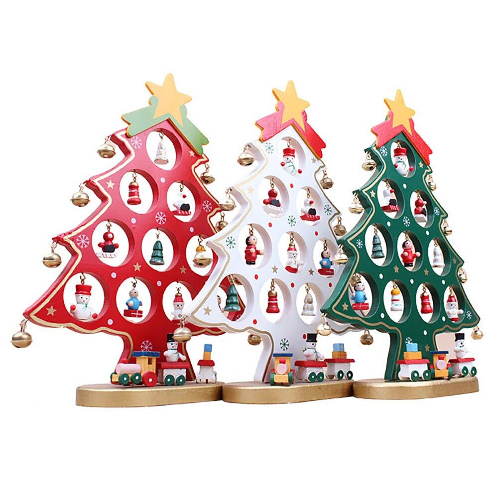 25,5 * 20 * 0,8 cm: n DIY söpö sarjakuvapuinen joulukuusi-koriste - Uudet kohteet ja gag-leluja - Valokuva 6