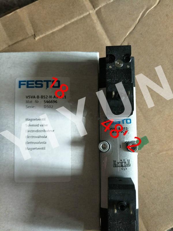 VSVA-B-B52-H-A-1R2L 534537 VSVA-B-B52-H-A1-1C1 546696 VSVA-B-P53E-H-A1-1R2L 534540 FESTO Solenoid valve