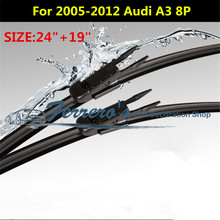 """Партия из 2 предметов SG-004 стеклоочистителей для 2005-2012 AUDI A3 8 P 2""""+ 19"""" fit щепотка вкладке тип рычаги стеклоочистителя только автомобильные аксессуары"""