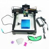 Assembled 15W laser diy laser engraving machine 14*20cm 10w metal engraver marking machine