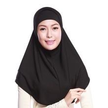 Frauen Muslimischen Sacrf Solide 2 Stücke Set Äußere Schal und Innenkappe Hijabs Muslim Islamischen Schal Schals Feste Hijab Caps
