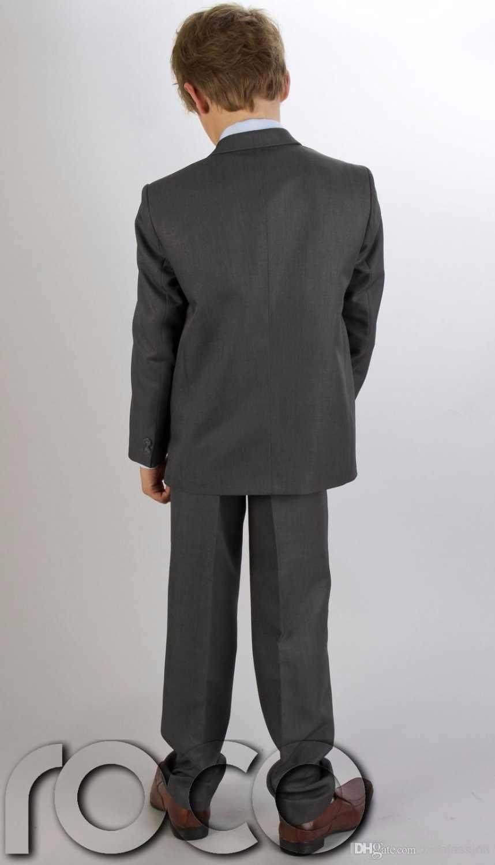 ed5096bbac Boys Grey Suit Boys Holy Communion Suit First Communion Red Chalice  Tie/Boy's Formal Wear Tuxedos/Children Wedding Blazer