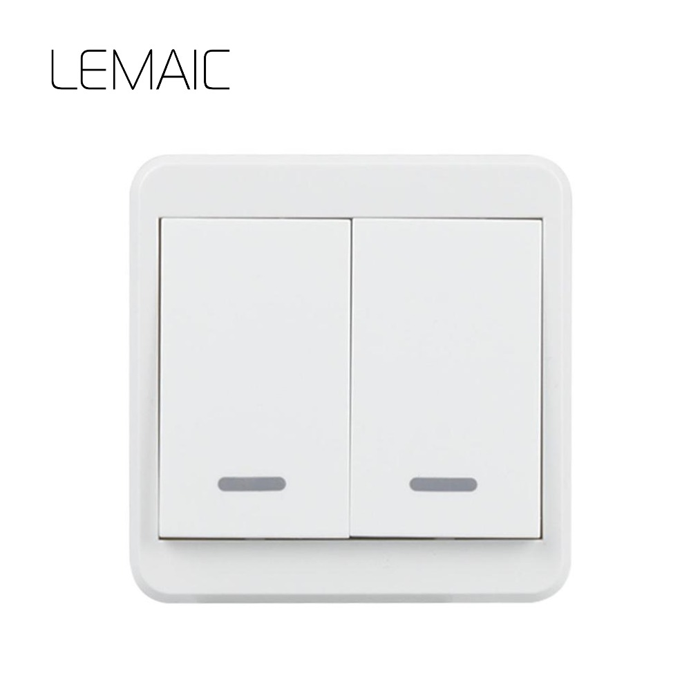LEMAIC Stairway Remote Control Switch AC 220V Lamp Light LED Bulb Wireless Switch Corridor Room Home Remote Lighting Wall Remote itimo wireless led bulb with remote control dimmable 220v e27 home indoor lighting night light us plug bedroom light lamp