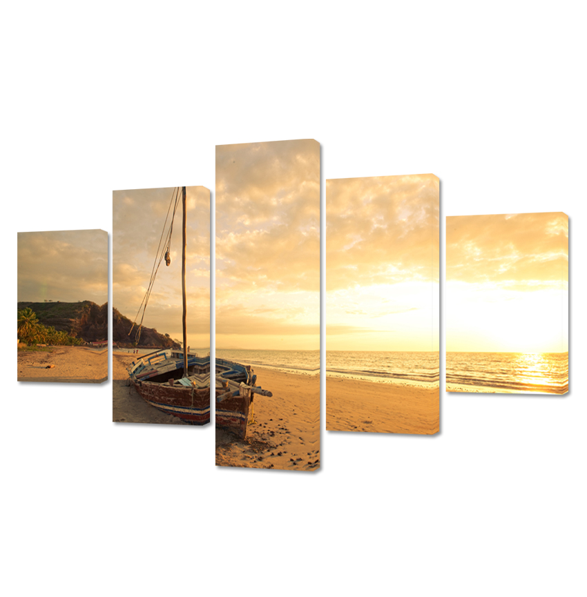 5 kusů levné scenérie Sunrise Pictures Art on Canvas Prints - Dekorace interiéru