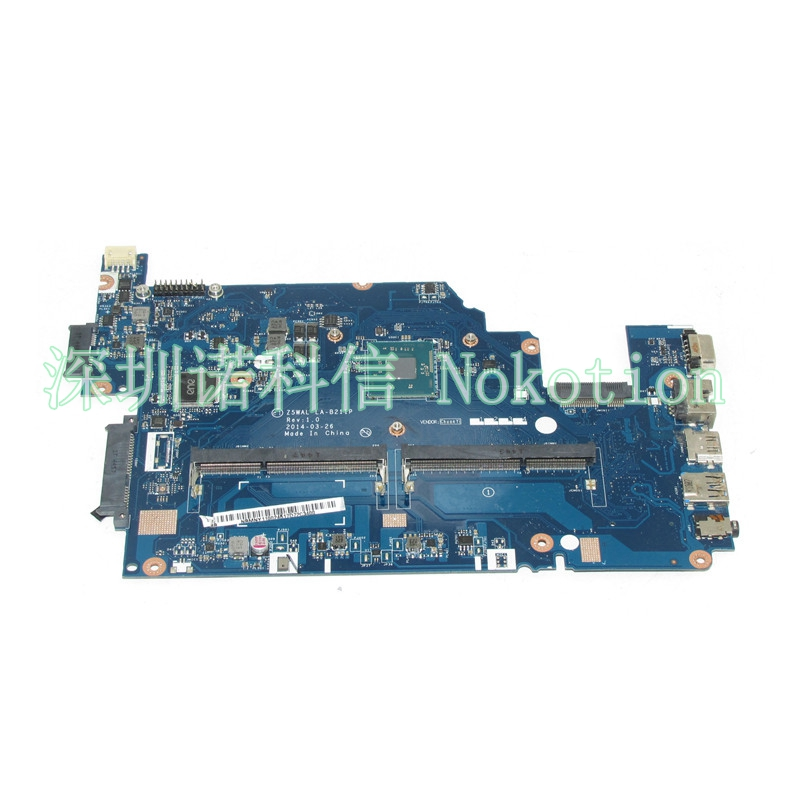 NOKOTION Z5WAL LA-B211P NBMNY11002 NB.MNY11.002 Laptop motherboard For acer aspire E5-511 DDR3L Mainboard works