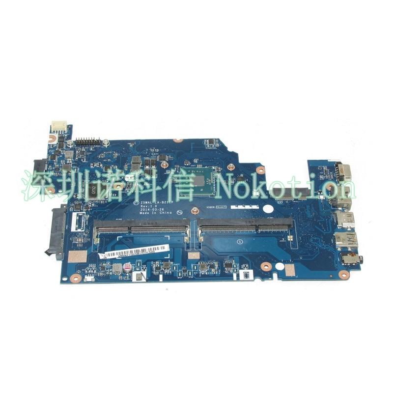 NOKOTION Z5WAL LA-B211P NBMNY11002 NB.MNY11.002 Laptop motherboard For acer aspire E5-511 SR1YV N2940 DDR3L Mainboard works nokotion mbrhk02001 mbrhk02001 mainboard for acer aspire 5830tg 5830t laptop motherboard p5lj0 la 7221p hm65 ddr3 gt540m gpu