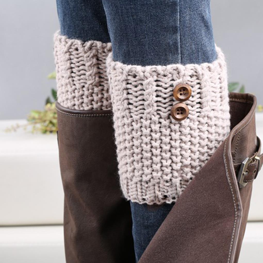 Charm atractivo de señora \' s de invierno alta rodilla calentadores ...