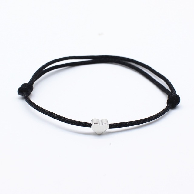 Minimalistic Rope Bracelet with Little Charm