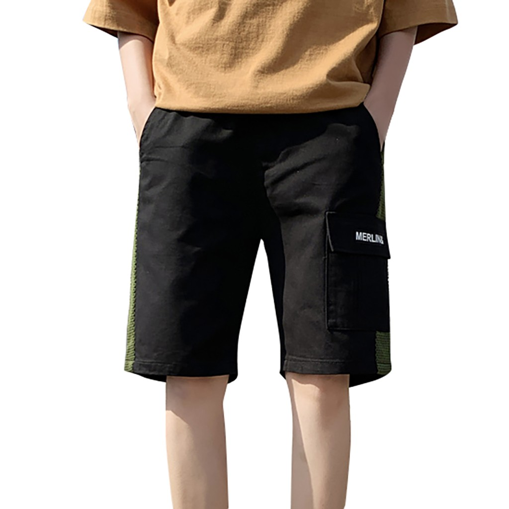 Genial 2019 Solide Sommer Mens Strand Shorts Baumwolle Große Größe Männer Casual Männlichen Shorts Sommer Baumwolle Casual Kordelzug Taille Shorts Lange Lebensdauer