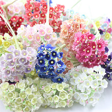 8 наборов/40 маленьких цветов 1 см мини бумажный цветок розы искусственный цветок мини Флокирование тканевый счастливый цветок