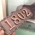 4-digit European family number upscale 3D digital code code hotel villa apartment door full metal sign brand new