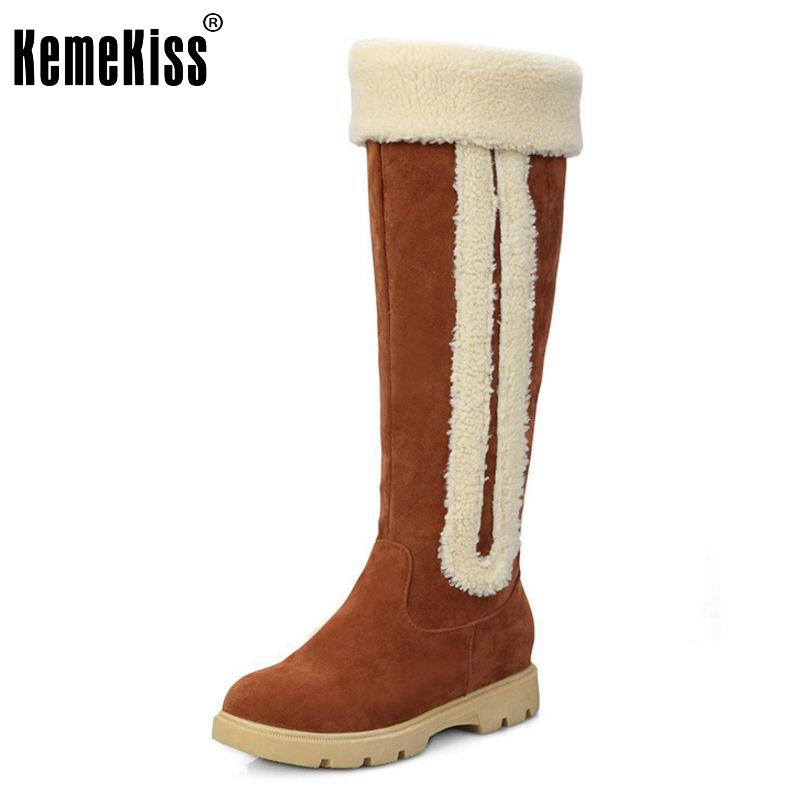 Size 33-42 New Women Boots Russia Keep Warm Outdoor Riding Boots Womens Fur Boots Winter Over Knee Long Snow Boots Shoes