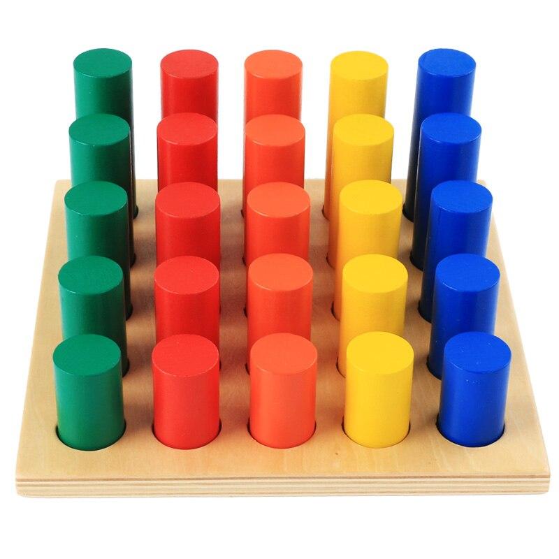 Home Loyal Wooden Montessori Toys Geometric Montessori Cylinder Ladder Montessori Sensorial Materials Juguetes Brinquedos Mg2664h