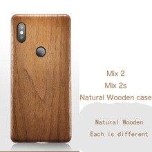 Caixa do telefone de madeira natural para xiao mi mi x 2 s 2 caso capa preta madeira de gelo, romã madeira, nogueira, rosewood para mi x2s mi x2