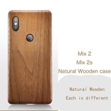天然木製電話ケースシャオ mi mi mi × 2S 2 ケースカバーブラックアイス木材、ザクロ木、クルミ、ローズウッドのための mi X2S mi X2