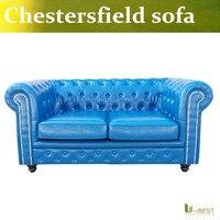 U BEST Classic Chesterfield Loveseat Sofa High Quality Chesterfield Sofa Leather Loveseat Sofa Living Room Furniture