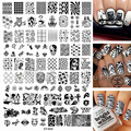 Large Acrylic Different Design Nails Stamping Plates Stamp Templates Image Polish Transfer Tool XYB04 Skull Owl Bird Zebra