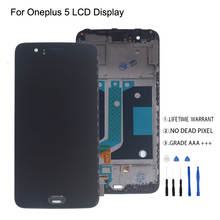 For Oneplus 5 A5000 LCD Display Touch Screen With Frame Digitizer For Oneplus 5 Display Screen LCD Phone Parts Free Tools