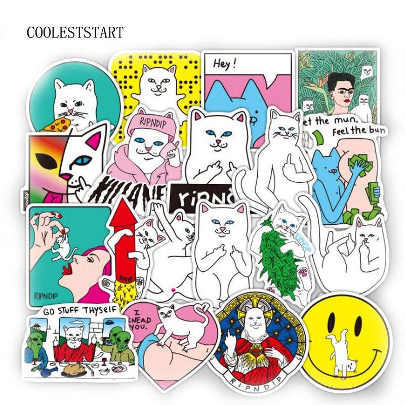 50pcs-1lot-funny-ripndipp-sticker-creative-personality-waterproof-rip-n-dip-laptop-sticker-for-finger-skateboard-car-styling-dec