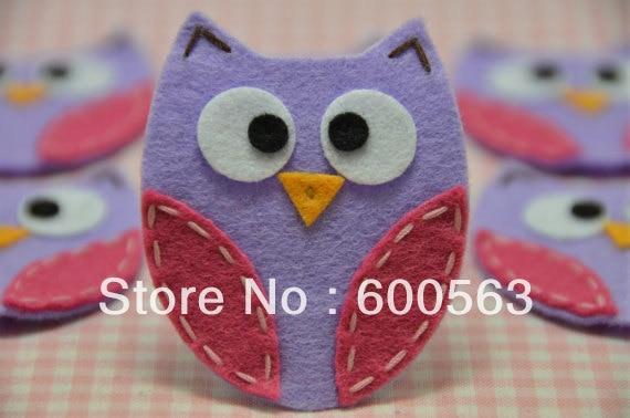 """2"""" handmade felt owl felt Hair Clips baby Hair Bows headband hairbows 150pcs / lot no clip with"""