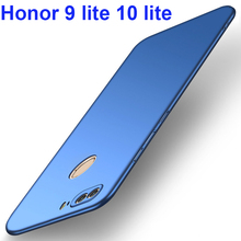 Honor 9 lite 10 Funda Luxury Phone Case Thin Matte Hard Plastic Full Cover Huawei