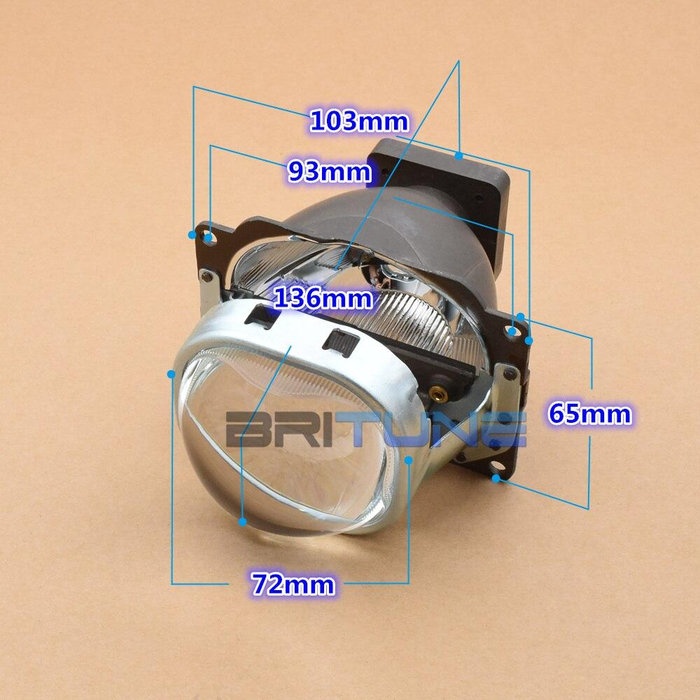 3,0 площадь Q5 Биксеноновая объектив проектора W/WO квадратный кожухи для Автомобили фара модернизации Применение d1S D2S D3S D4S HID лампы
