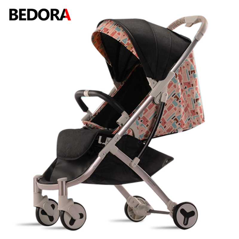 Bedora Baby Stroller Can sit and lie down Baby umbrella car light portable trolley baby cart Foldable newborn car