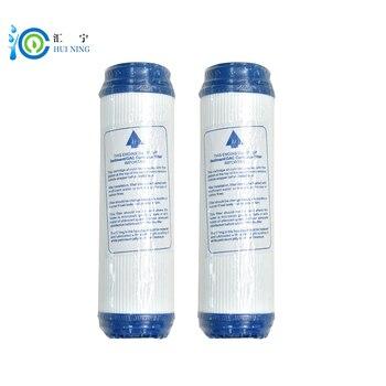 2 piezas de purificador de agua de 10 pulgadas granular udf activado de cáscara de coco de adsorción valor 1100 cartucho de filtro de reemplazo