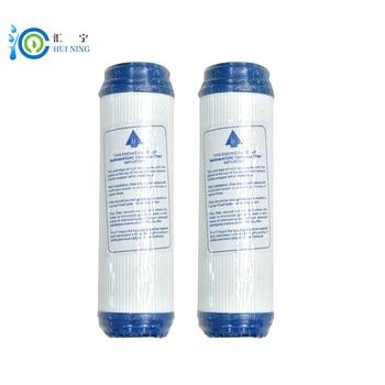 2 unids purificador de agua 10 pulgadas granular udf activado de cáscara de coco carbón adsorción valor 1100 reemplazo de cartucho de filtro