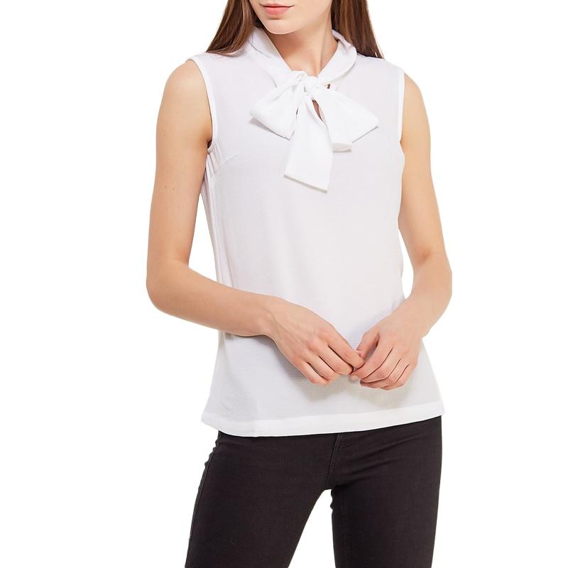 Blouses & Shirts MODIS M181W00335 woman blouse shirt blusas for female TmallFS plus collar knot blouses