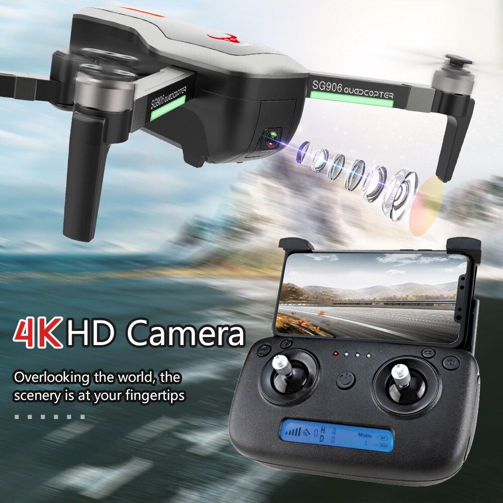 Drone GPS ZLRC SG906 avec caméra 5G WIFI FPV 4 K Drone sans brosse Drone pliable GPS quadrirotor VS X193 SJRC F11 JJRC X9