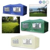3 м X 6 складной тент беседка навес шатер открытый палатка синий/зеленый/бежевый Свадьба Сад вечерние Вечеринка Кемпинг с боковыми стенками