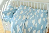 4 Styles Blue Clouds Baby Bedding Set 3pcs Set Cotton Crib Bedding Set For Boys Newborn