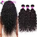 7А Tissage Перуанский Девственные Волосы Естественным Вьющиеся Ткет 3 Шт./лот, Волнистые Человеческих Волос Weave100 % Virgin Перуанские Пучки Волос вьющиеся Волосы