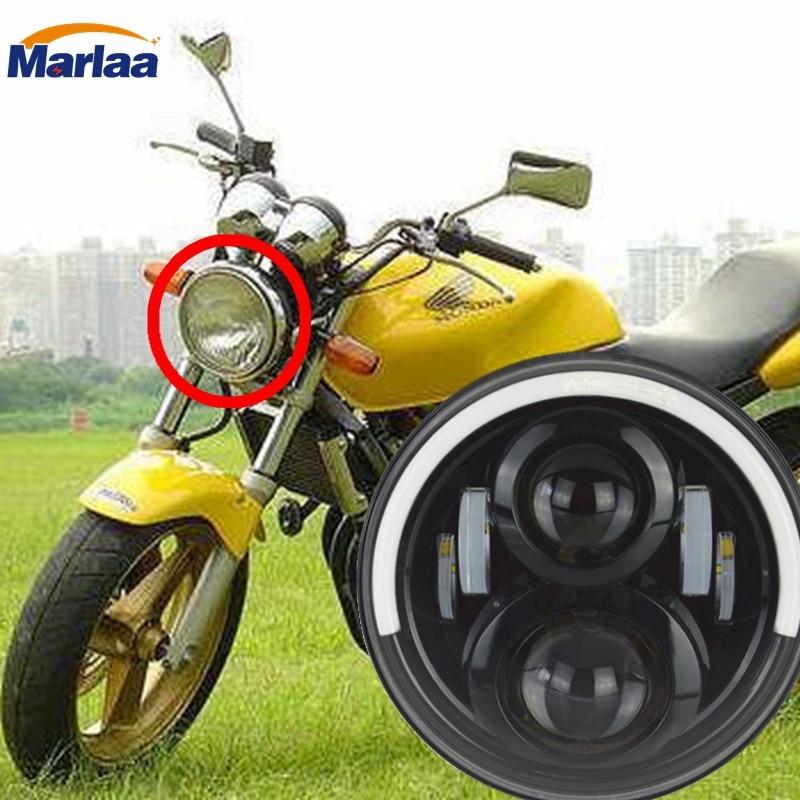 Здесь можно купить  7 Inch Motorcycle LED DRL Projector Headlights With Angel Light  for Honda CB400 CB500 CB1300 Hornet 250 600 900 VTE  Автомобили и Мотоциклы