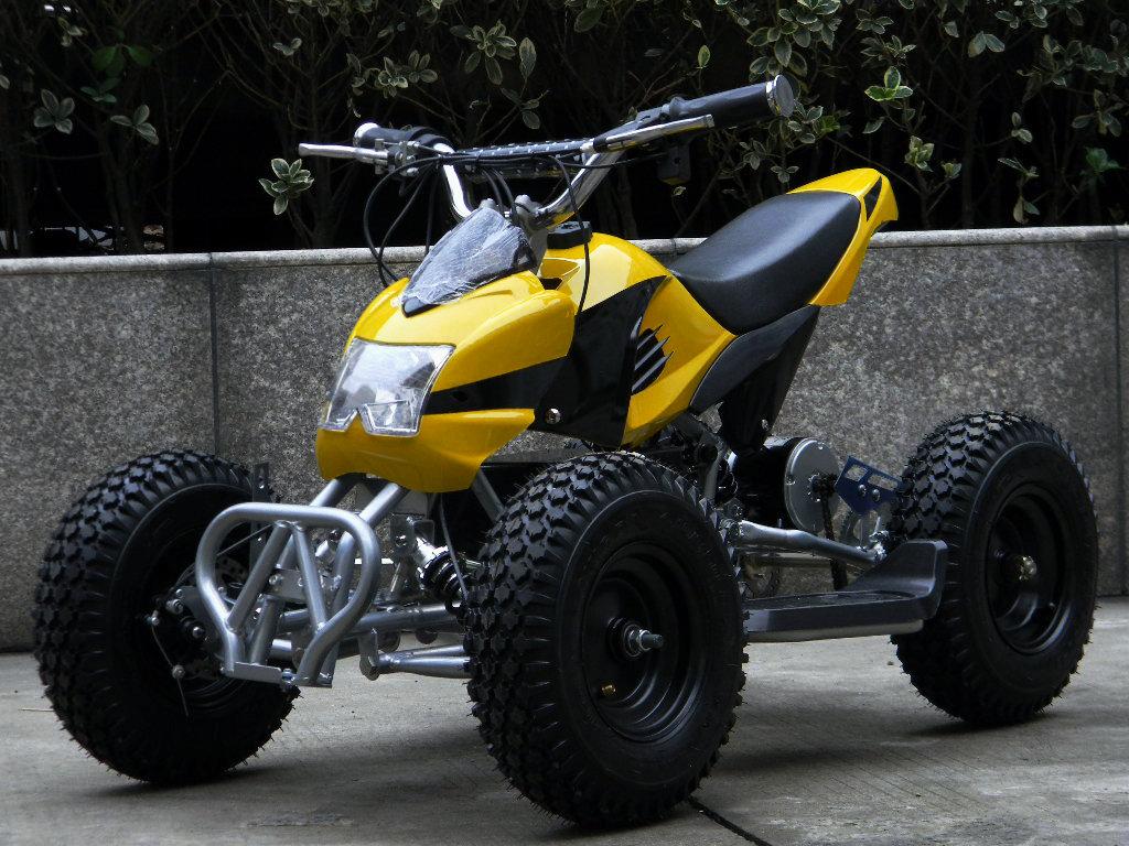 Small electric four wheel atv plus size 6 tyre 500w motor electric ...