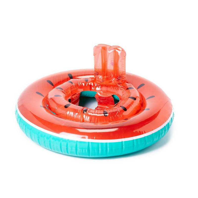 3 Style Children Water Safety Seat Swimming Ring Inflatable Watermelon Swan Flamingo Pool Float Swimming Seat Baby Water Circle