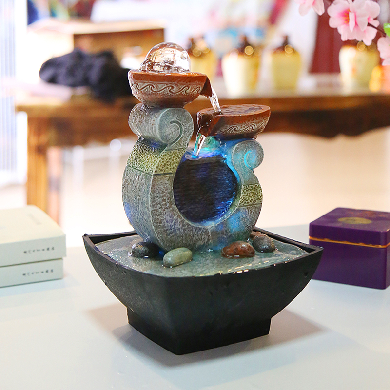 fuente de agua decoracin artesanas de resina artesanas casa decor rountain artculos de tapicera decoracin del