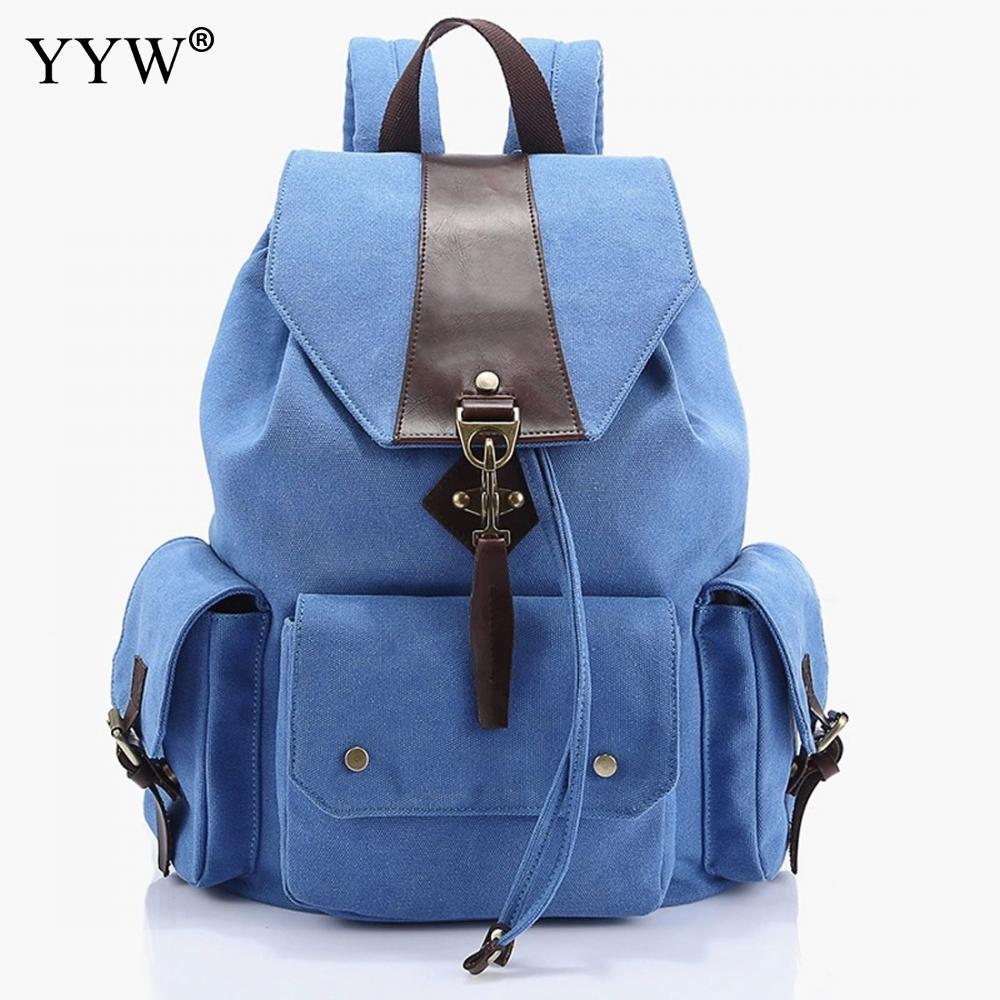 Vintage Backpack Unisex Large Capacity School Backpack Gray Travel Backpack For Women Men Canvas Sackpack Black With Pocket цены онлайн