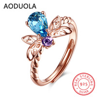 925 Sterling Silver Adjustable Ring Rose Gold Plated Bee Rings Women S Rings Ladies And Girls