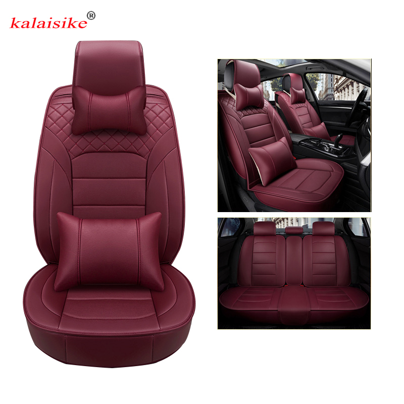 kalaisike leather universal car seat cover for Chrysler all models 300C PT Cruiser 300 300S Sebring car styling auto accessories
