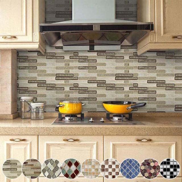 Azulejo De Mosaico Para Cocina Bano Renovacion Impermeable
