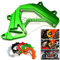 Free Shipping Motorcycle Front Sprocket Cover Panel Left Engine Guard Chain Cover Protection For Kawasaki Z800 2013-2015 Green