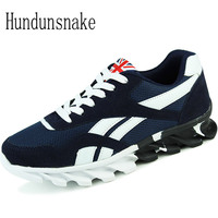 Hundunsnake Blue Sneakers Men Breathable Mesh Athletic Shoes Jogging Adult Male Shoes Sports Running Shoes For